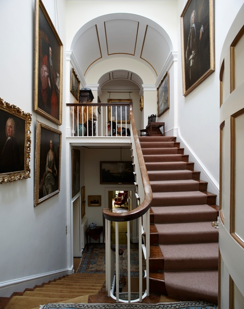 Trewithen House stairs
