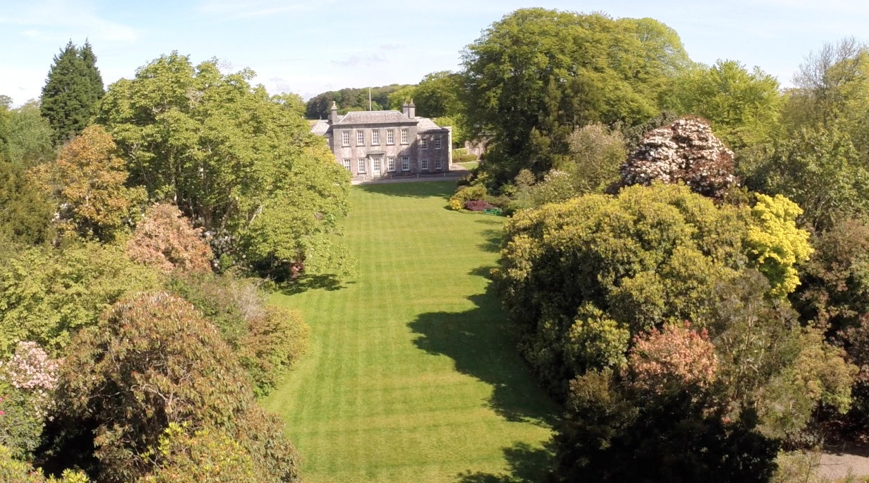 Trewithen Gardens - aerial shot