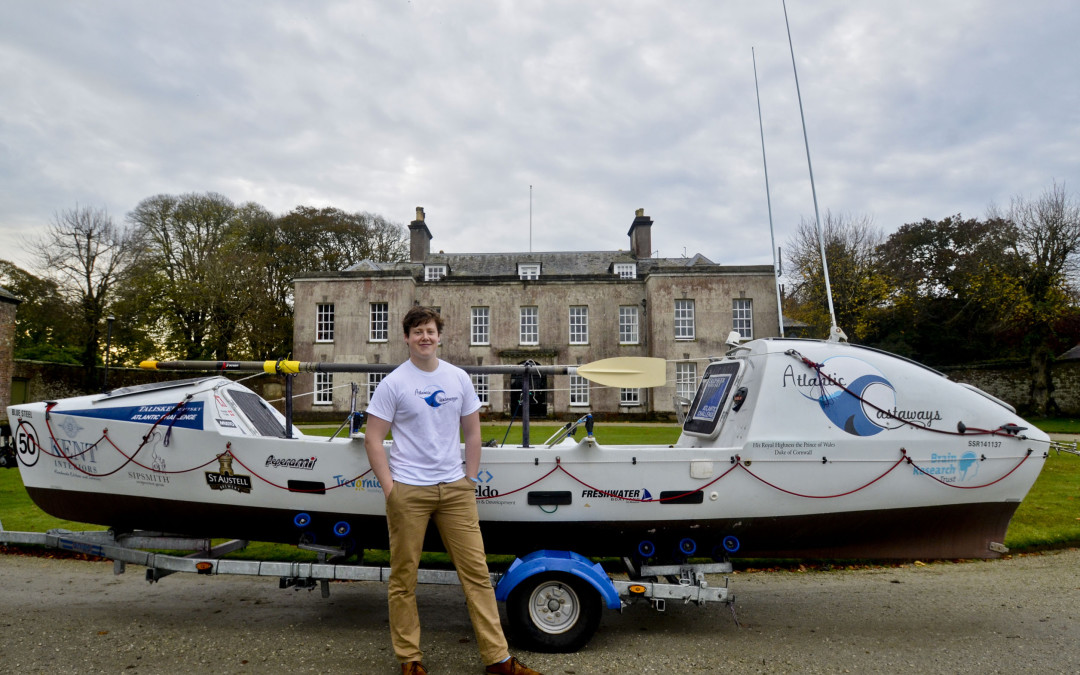 Will a young Cornishman become the youngest person to row the Atlantic?