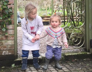 Isadora (right) with her cousin Florence (left)